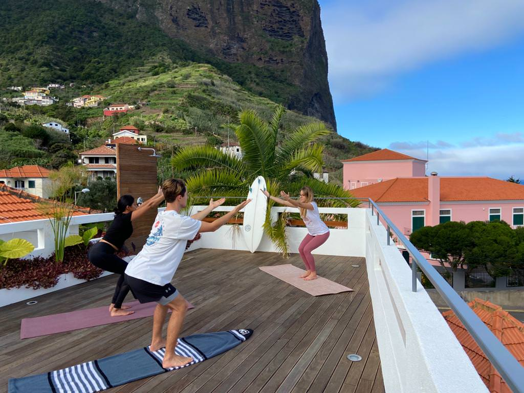 Yoga at the Guesthouse Roof Terrace